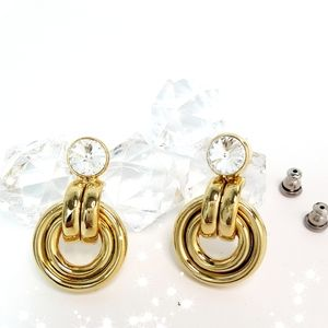 Gold Rhinestone💛Fashion Earings